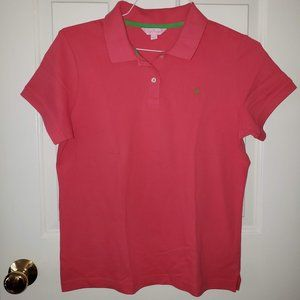 Lilly Pulitzer pink polo - size XL